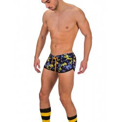 BARCODE BERLIN GYM SHORT THAR /NAVY / YELLOW